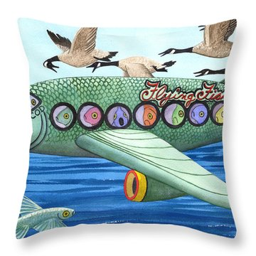 Cod Is My Co-pilot Throw Pillow