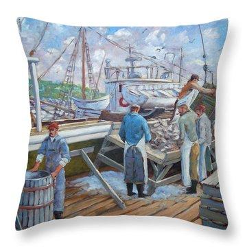 Cod Memories Throw Pillow by Richard T Pranke