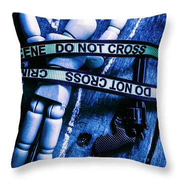 Code Blue Csi Throw Pillow