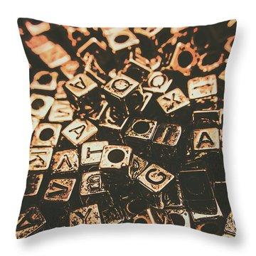 Code Breakers Analogy Throw Pillow