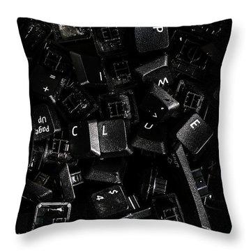 Codebreaking A Hidden Clue Throw Pillow