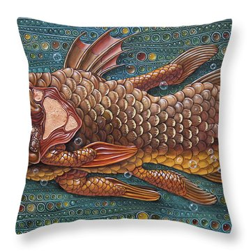Coelacanth Throw Pillow