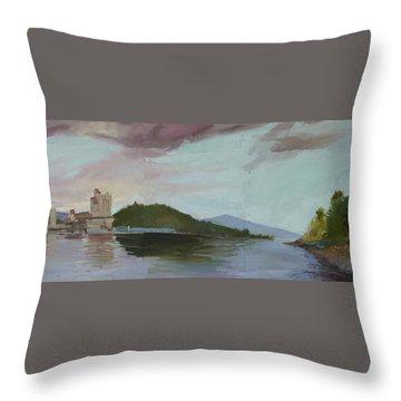 Coeur D Alene Lake    North  Idaho Throw Pillow