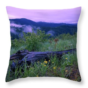 Coeur D'alene Mountains Throw Pillow by Idaho Scenic Images Linda Lantzy