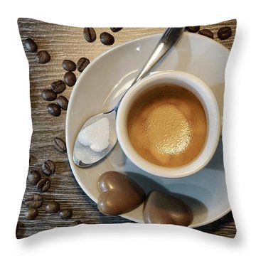 Coffee #1 Throw Pillow