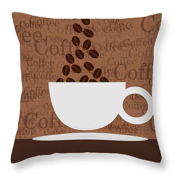 Coffee #3 Throw Pillow