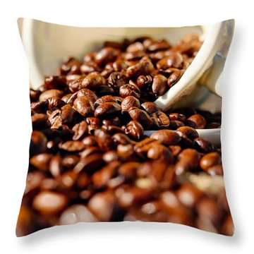 Coffee #8  Throw Pillow