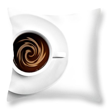 Throw Pillow featuring the photograph Coffee And Cream by Gert Lavsen