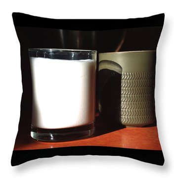 Coffee And Kefir Throw Pillow by Aliceann Carlton
