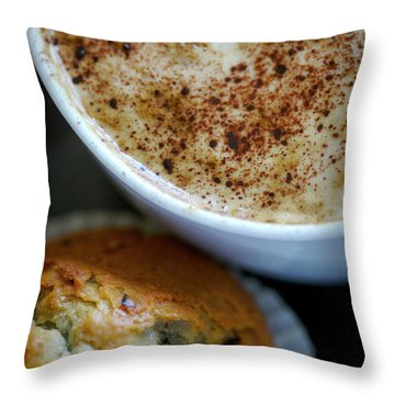 Coffee And Muffin Throw Pillow