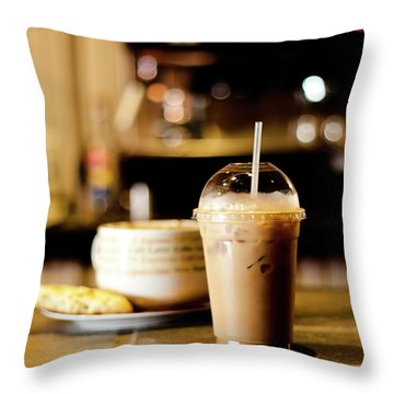 Coffee Bar Atmosphere Throw Pillow