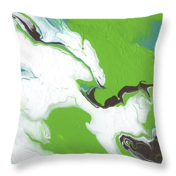 Coffee Bean 1- Abstract Art By Linda Woods Throw Pillow