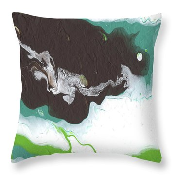 Coffee Bean 2- Abstract Art By Linda Woods Throw Pillow
