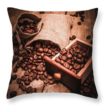 Coffee Bean Art Throw Pillow