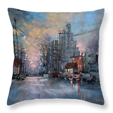 Coffee Before Work Throw Pillow