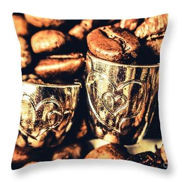 Coffee Break Date Throw Pillow