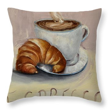 Coffee Break Throw Pillow by Lindsay Frost