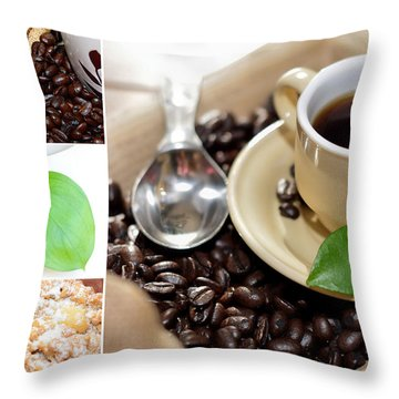 Coffee Collage  Throw Pillow