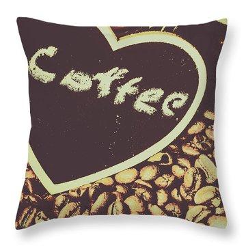 Coffee Heart Throw Pillow