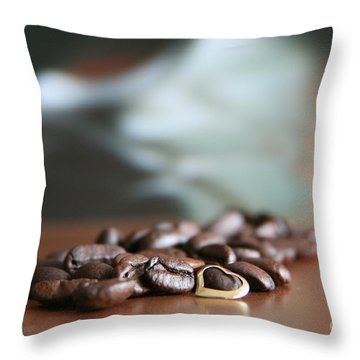 Coffee Lover  Throw Pillow by Lynn England