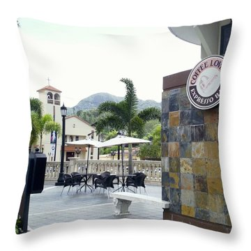 Coffee Lover's Expresso Bar 3 Throw Pillow