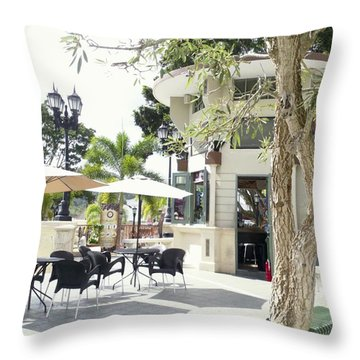 Coffee Lover's Expresso Bar At The Moll Boscana Town Square Throw Pillow
