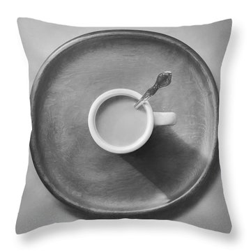 Coffee On A Wooden Tray Throw Pillow
