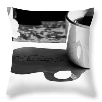 Coffee Poetry Throw Pillow