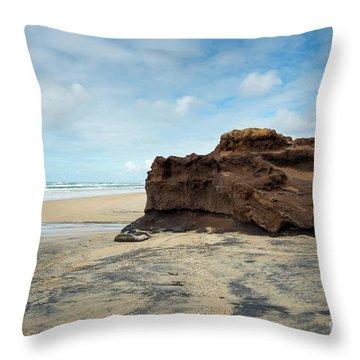 Coffee Rock Throw Pillow