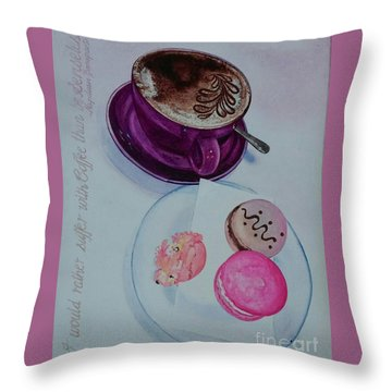 Coffee Throw Pillow by Sandra Phryce-Jones