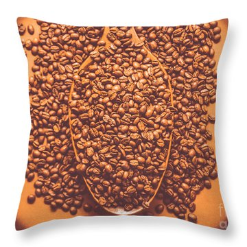 Coffee Service At The Old General Store Throw Pillow