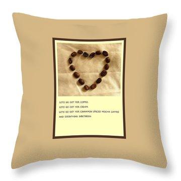 Coffee Shop Hopping Throw Pillow