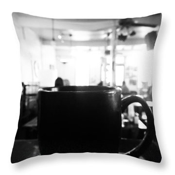 Throw Pillow featuring the photograph Coffee Shop by Utopia Concepts