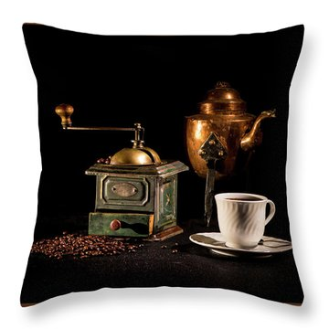 Throw Pillow featuring the photograph Coffee-time by Torbjorn Swenelius