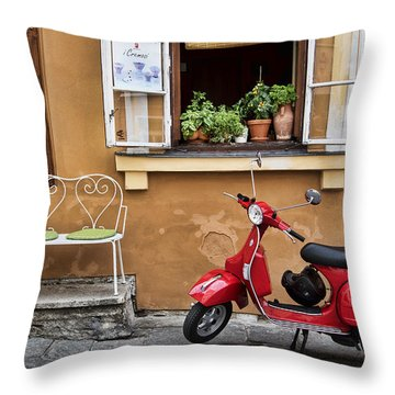 Coffee To Go Throw Pillow by James David Phenicie