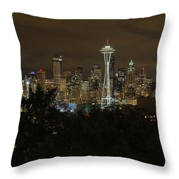 Coffee Town Throw Pillow by James Heckt