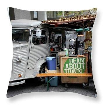 Coffee Truck Throw Pillow