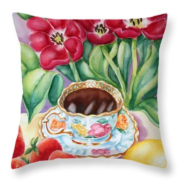 Coffee With Flavour Throw Pillow