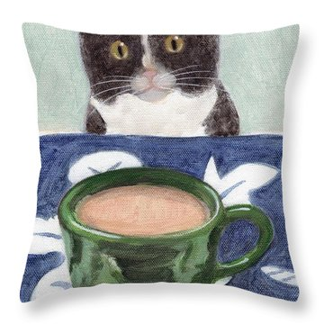 Coffee With Henry #4 Throw Pillow