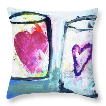 Coffee With Love Throw Pillow by Amara Dacer