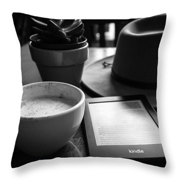 Throw Pillow featuring the photograph Coffeehouse Lifestyle by Monte Stevens