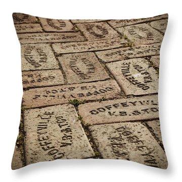 Coffeyville Bricks Throw Pillow