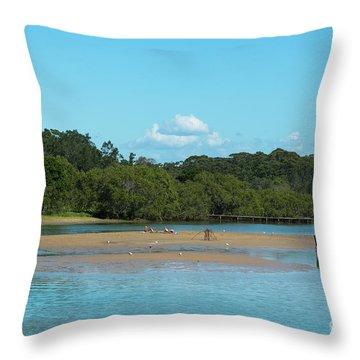 Coffs Creek  Throw Pillow