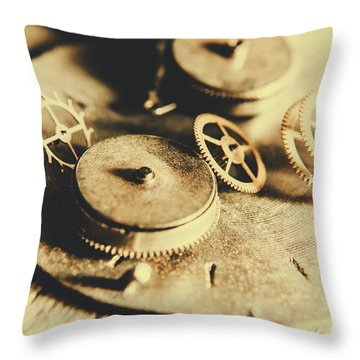 Cog And Gear Workings Throw Pillow