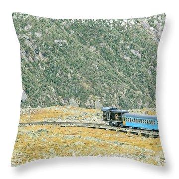 Cog Railroad Train. Throw Pillow