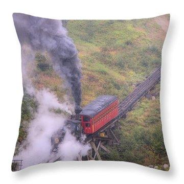 Cog Railway Car Throw Pillow
