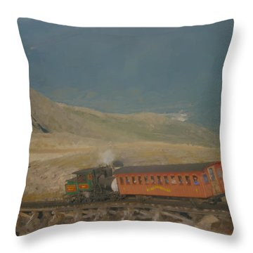 Cog Railway Mount Washington Throw Pillow
