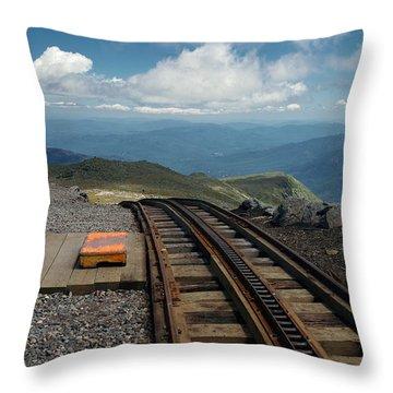 Cog Railway Stop Throw Pillow