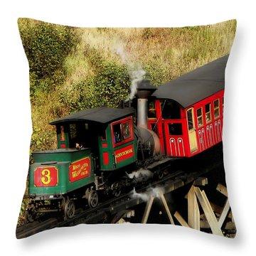 Cog Railway Vintage Throw Pillow