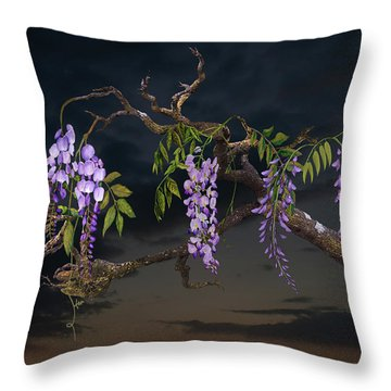 Cogan's Wisteria Tree Throw Pillow